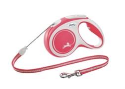 FLEXI рулетка-трос для собак до 12кг, 8м,   (New Comfort S Cord 8 m) красная