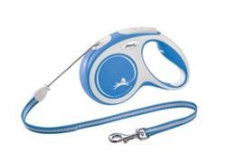 FLEXI рулетка-трос для собак до 20кг, 8м,   (New Comfort M Cord 8 m,) синяя