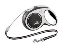 FLEXI рулетка-трос для собак до 20кг, 8м,   (New Comfort M Cord 8 m,) черная