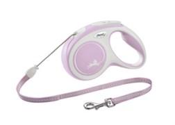 FLEXI рулетка-трос для собак до 20кг, 8м,   (New Comfort M Cord 8 m,) розовая