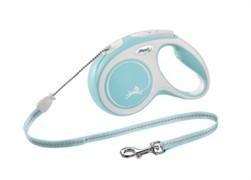 FLEXI рулетка-трос для собак до 20кг, 8м,   (New Comfort M Cord 8 m,) голубая
