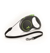 FLEXI Рулетка-трос для собак до 12кг, 5м,  (Black Design S Cord 5m  )