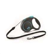 FLEXI Рулетка-трос для собак до 20кг, 5м,   (Black Design M Cord 5m  ) черная