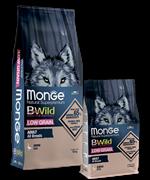 Monge Dog BWild LOW GRAIN низкозерновой корм из мяса гуся для взрослых собак всех пород 12 кг