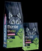 Monge Dog BWild LOW GRAIN низкозерновой корм из мяса дикого кабана для взрослых собак всех пород 12 кг