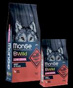 Monge Dog BWild LOW GRAIN низкозерновой корм из мяса оленя для взрослых собак всех пород 12 кг
