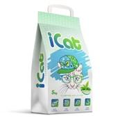iCat, комкующийся наполнитель контроль запаха с ароматом зеленого сада, 5 кг