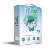 iCat, комкующийся белый наполнитель антибактериальный, 5 кг