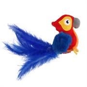 """""""GiGwi""""   Попугай со звуковым чипом, иск. мех+перо 12 см"""