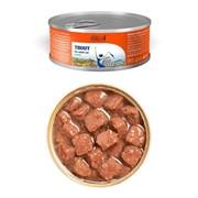 Dailycat casual line Trout chunks in gravy - консервы для кошек кусочки форели в соусе 85гр