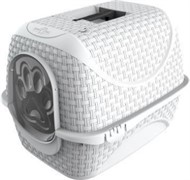 BAMA PET био-туалет для кошек PRIVE' 42х50,5х39,6h см, белый