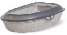 BAMA PET туалет-лоток для кошек SABBIA 59,5х40,3х18h см, белый