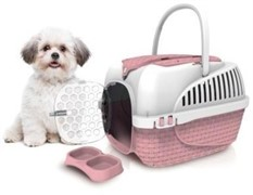 BAMA PET переноска KENNEL TOUR MAXI 59х38х37h см до 12 кг,  розовая