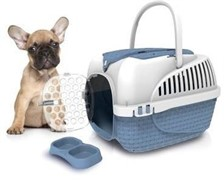 BAMA PET переноска KENNEL TOUR MAXI 59х38х37h см до 12 кг, синяя