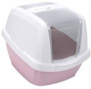 IMAC био-туалет для кошек MADDY 62х49,5х47,5h см, белый/нежно-розовый