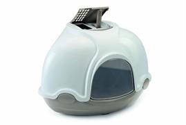 IMAC био-туалет для кошек угловой GINGER 52х52х44,5h см, светло-серый