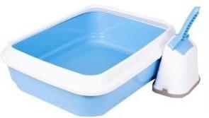 IMAC туалет-лоток для кошек DUO с совочком на подставке 59х40х28h см, голубой