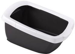 IMAC туалет-лоток для кошек FUNNY с высокими бортами 62х49,5х33h см, антрацит