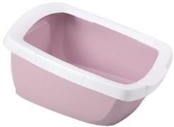 IMAC туалет-лоток для кошек FUNNY с высокими бортами 62х49,5х33h см, нежно-розовый