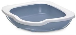 IMAC туалет-лоток для кошек угловой FRED 51х51х15,5h см, светло-голубой