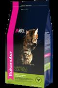 Eukanuba Cat HAIRBALL корм для вывода шерсти из желудка с домашней птицей для кошек 2 кг