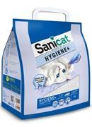 Sani Cat белоснежный облегченный впитывающий наполнитель, Hygiene Plus White 3,85 кг