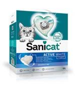 Sani Cat белоснежный ультракомкующийся наполнитель без аромата, Active White 8,5 кг