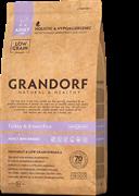 Grandorf  Индейка с рисом Мини для взрослых собак мелких пород 3 кг