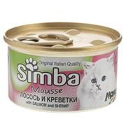 Simba Cat Mousse мусс для кошек лосось/креветки 85г