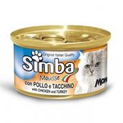 Simba Cat Mousse мусс для кошек цыпленок/индейка 85г