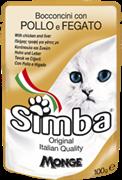 Simba Cat Pouch паучи для кошек курица с печенью 100г