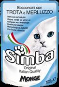 Simba Cat Pouch паучи для кошек форель с треской 100г