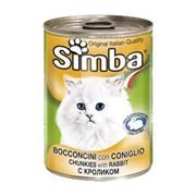 Simba Cat консервы для кошек паштет кролик 400г
