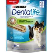 """Purina DentaLife лакомство для собак средних пород """"Здоровые зубы и десна"""", 5 шт., DentaLife Medium"""