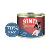 Влажный корм для собак RINTI GOLD mit Fasan Фазан 0,185 кг