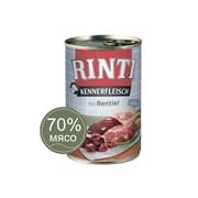 Влажный корм для собак RINTI KENNERFLEISCH mit Rentier Северный олень 0,4 кг