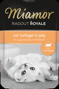 MIAMOR RAGOUT Kitten - mit Geflügel Kitten c Птицей кусочки в желе Пауч  корм д/котят  0,1 кг
