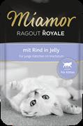 MIAMOR RAGOUT Kitten - mit Rind Kitten c Говядиной кусочки в желе Пауч корм д/котят  0,1 кг