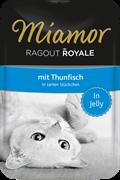 MIAMOR RAGOUT mit Thunfisch Тунец кусочки в желе Пауч корм для кошек  0,1 кг