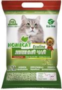 """Homecat комкующийся наполнитель """"Эколайн"""" с ароматом зеленого чая 12 л"""