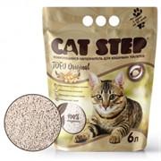 CAT STEP Tofu Original растительный комкующийся 6 л