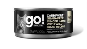 Go! консервы беззерновые с рубленым мясом ягненка и дикого кабана для кошек