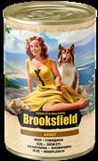 Бруксфилд Adult кон.д/собак Говядина 400г