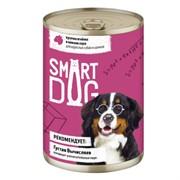 Smart Dog консервы для взрослых собак и щенков кусочки ягненка в нежном соусе