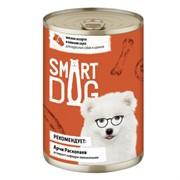Smart Dog консервы для взрослых собак и щенков мясное ассорти в нежном соусе