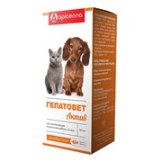 ГЕПАТОВЕТ АКТИВ суспензия оральная д/собак и кошек, фл.50мл+шприц-дозатор