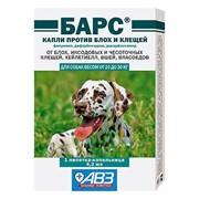 БАРС капли против блох и клещей для собак от 20 кг до 30 кг 1 пип по 4,2 мл.