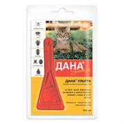 Дана Ультра капли на холку (для кошек и котят до 4 кг) 0,32мл