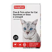 БЕАФАР Ошейник для кошек чёрный  35см