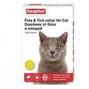БЕАФАР Ошейник от блох для кошек желтый 35см
